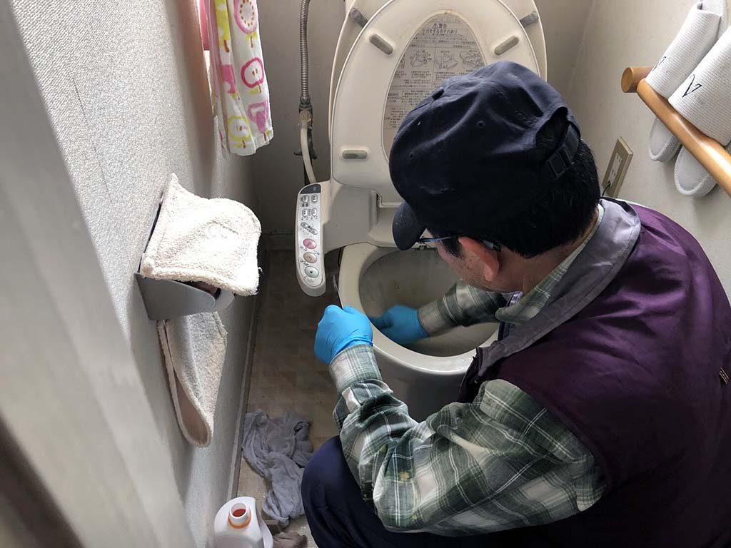 ご高齢のお客様 ーお家のトイレ掃除ー