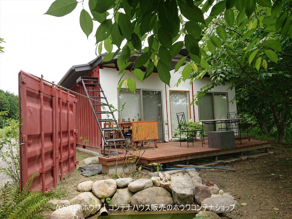 三重県内のコンテナハウス住居裏庭