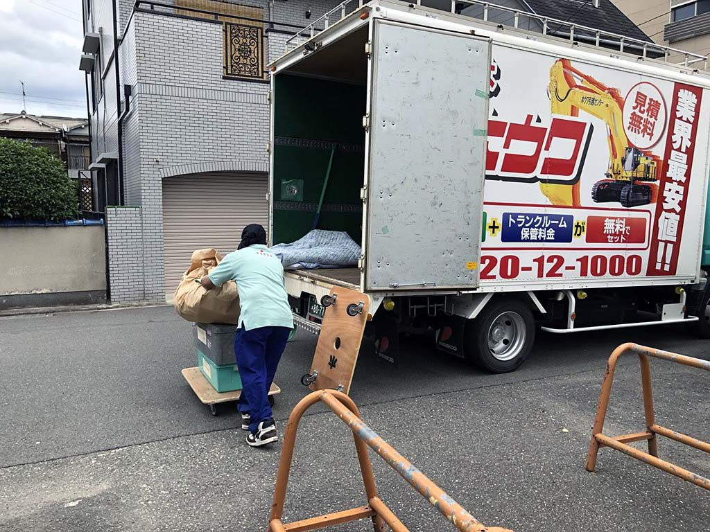 東大阪市の団地で不用品引取