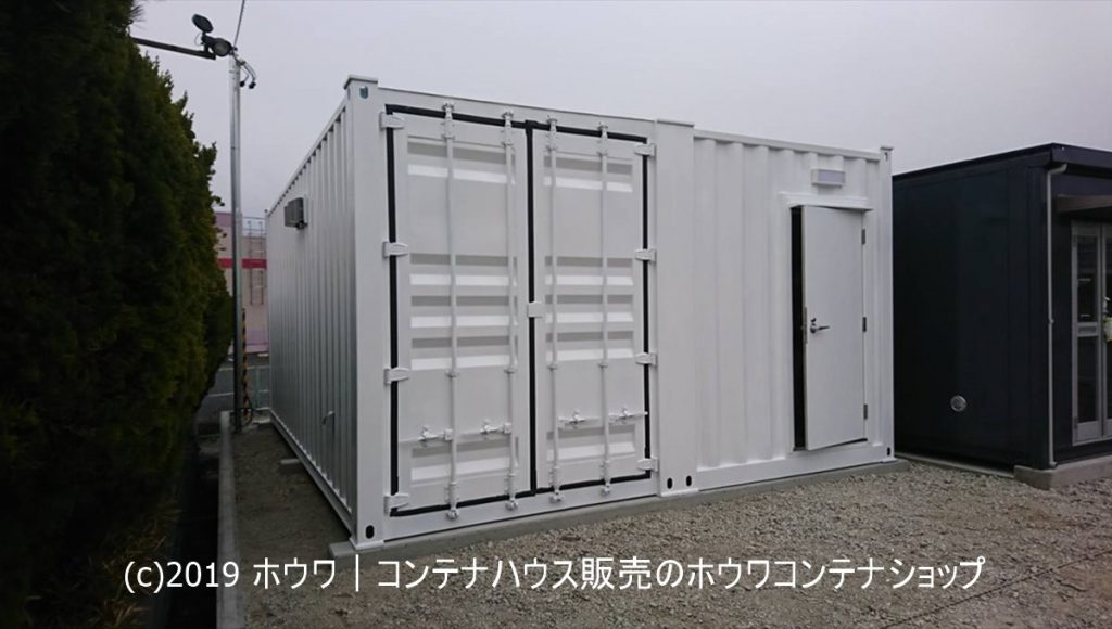 スタジオ用防音コンテナ 20フィート2連棟タイプ納品|静岡県掛川市