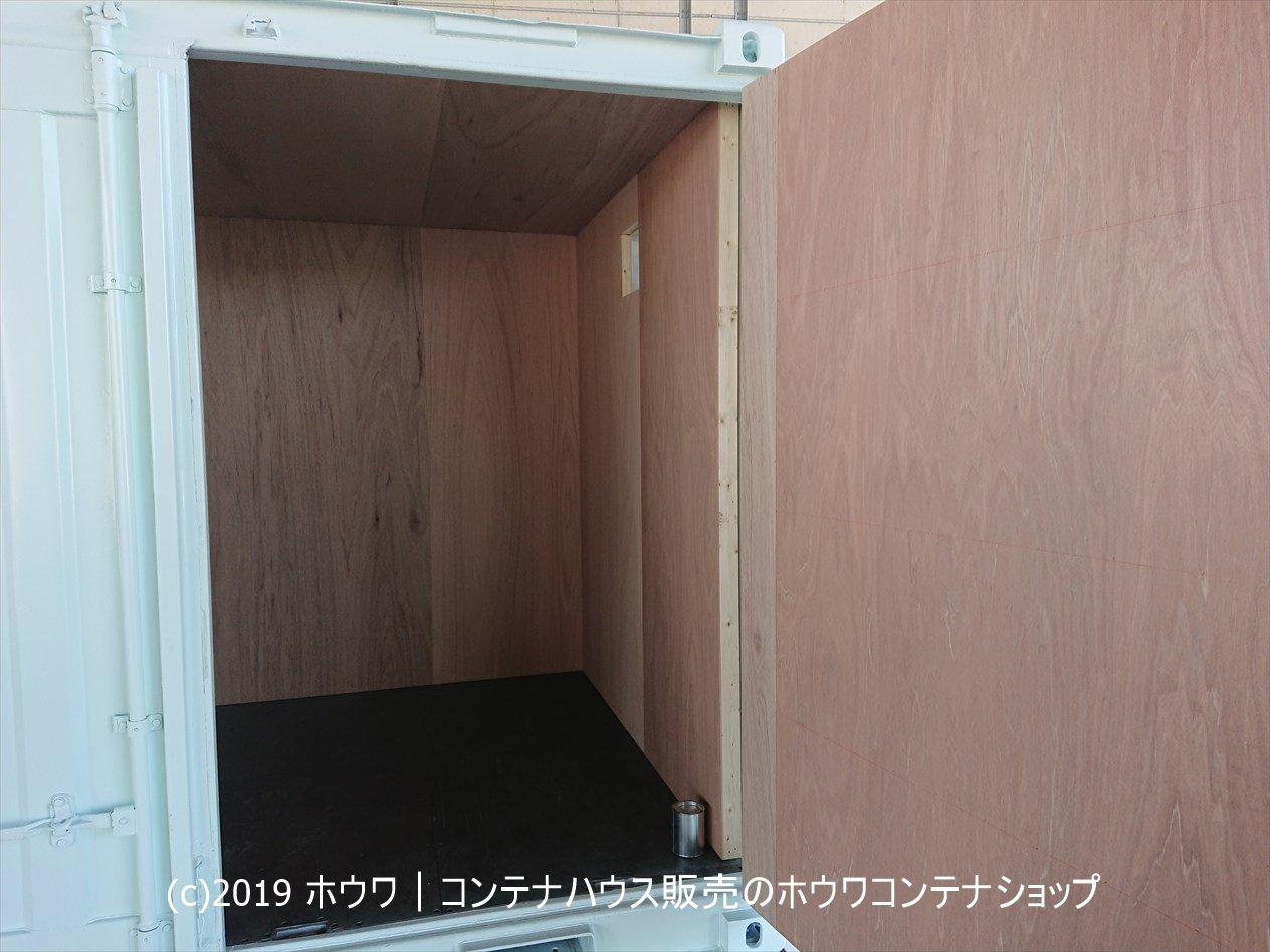 10フィート防災倉庫の庫内