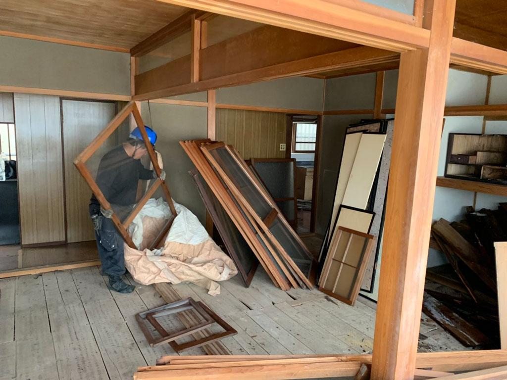 古家付き物件を購入後に桧家住宅さんでご新築 | 奈良市内で解体工事