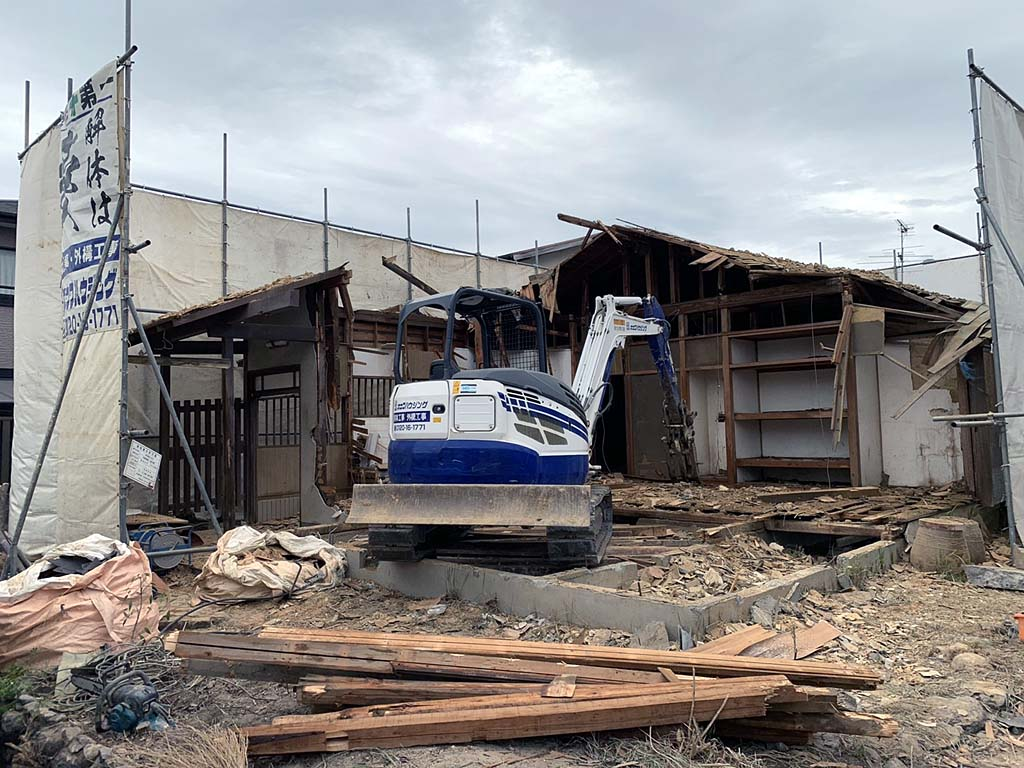 建物の取り壊し