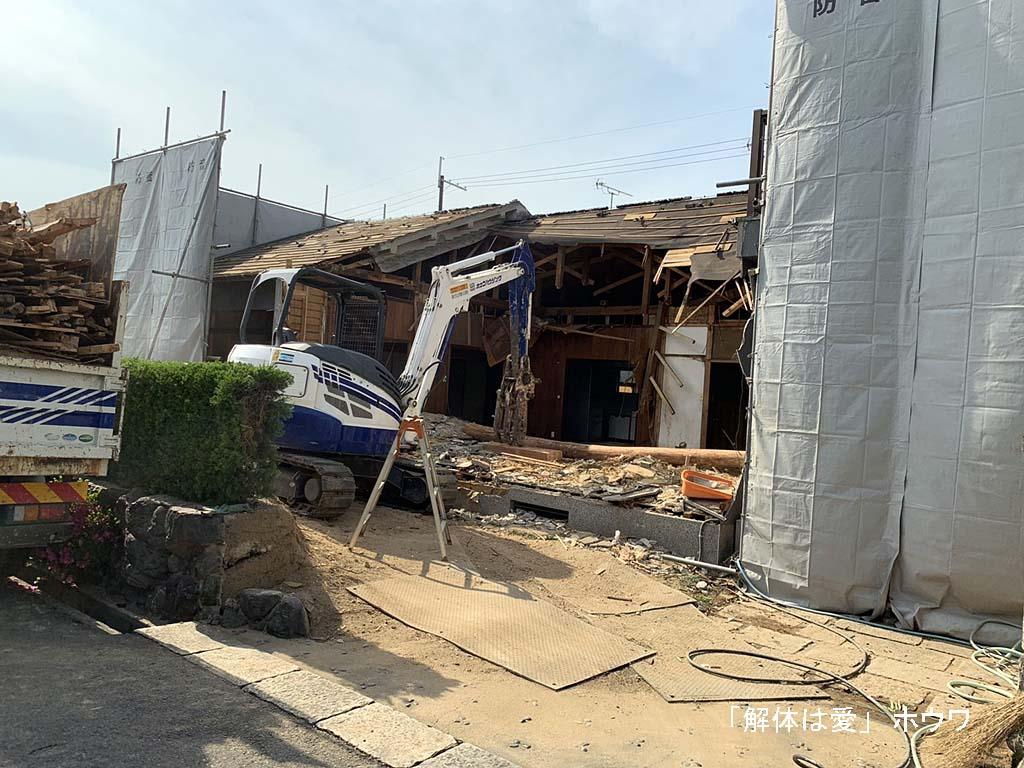 古家付き物件をご新築 | 磯城郡田原本町で解体工事
