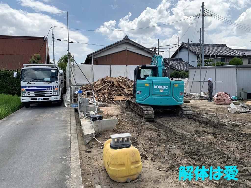 大和郡山市で解体工事
