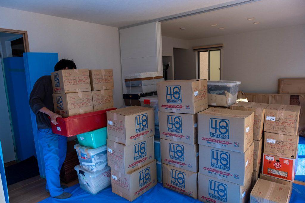 建て替え引越/枚方市ご新居/お荷物搬入後①