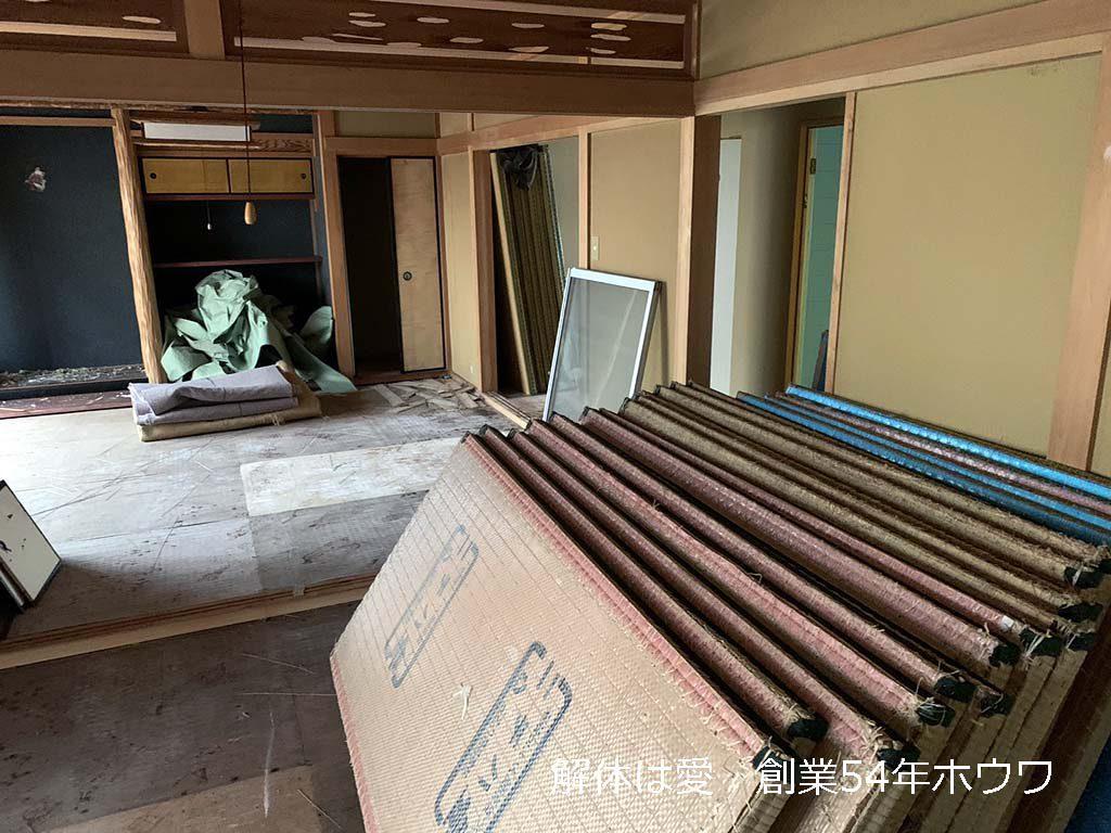古家付き物件をクレバリーホームさんでご新築 | 香芝市で解体工事