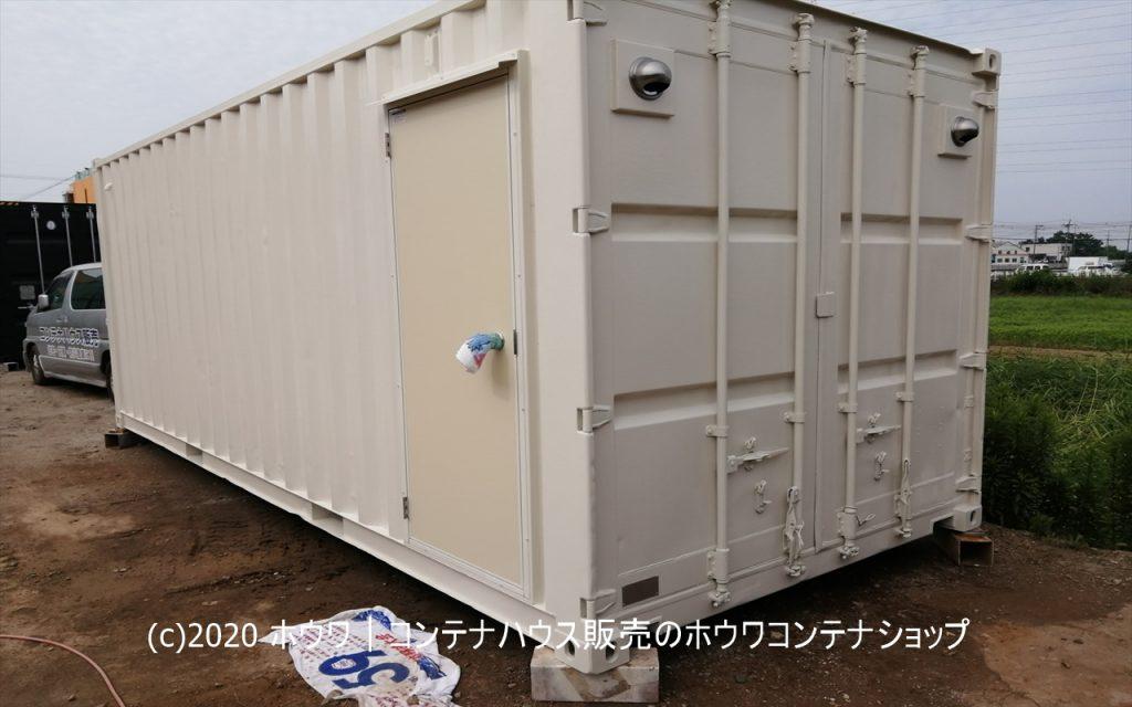 デリケートなシルク生地保管用倉庫 | 香芝市で20フィートコンテナ設置