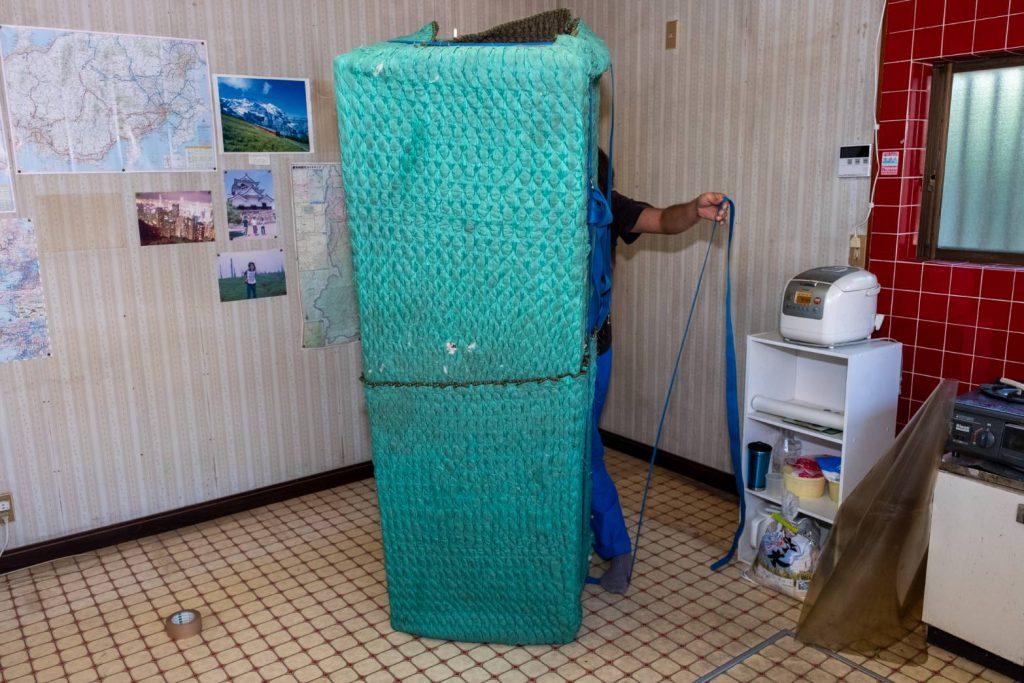 橿原市にてお建て替え 冷蔵庫梱包