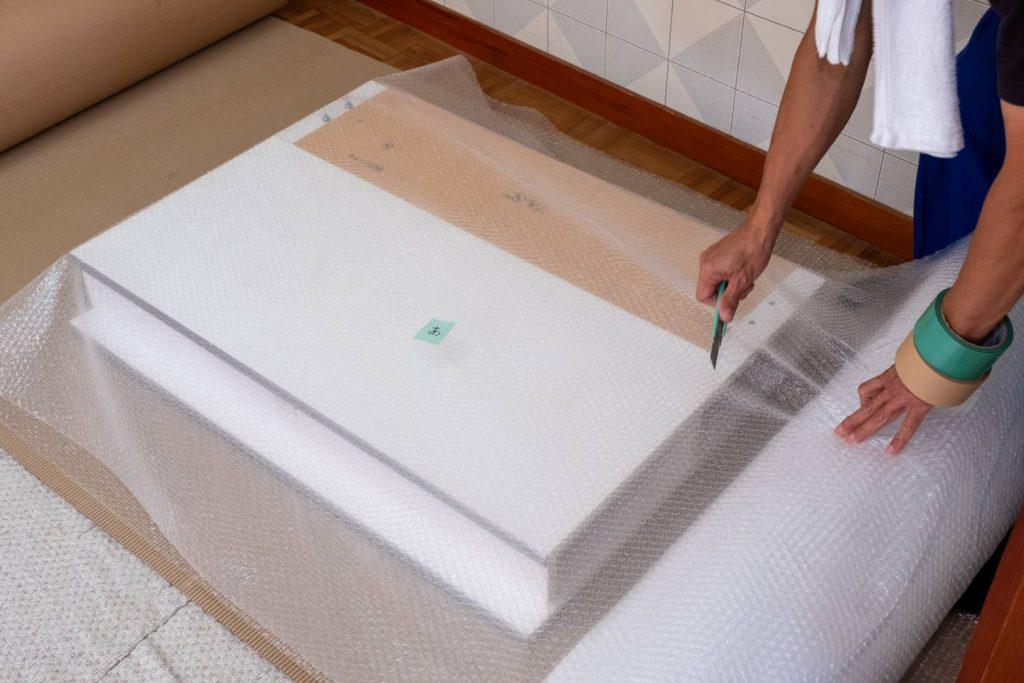 橿原市にてお建て替え 家具梱包6