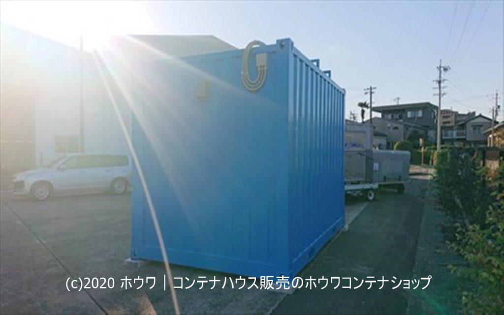 12フィート防災備蓄コンテナ+ソーラー発電l愛知県