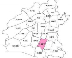 大阪市阿倍野区の地図