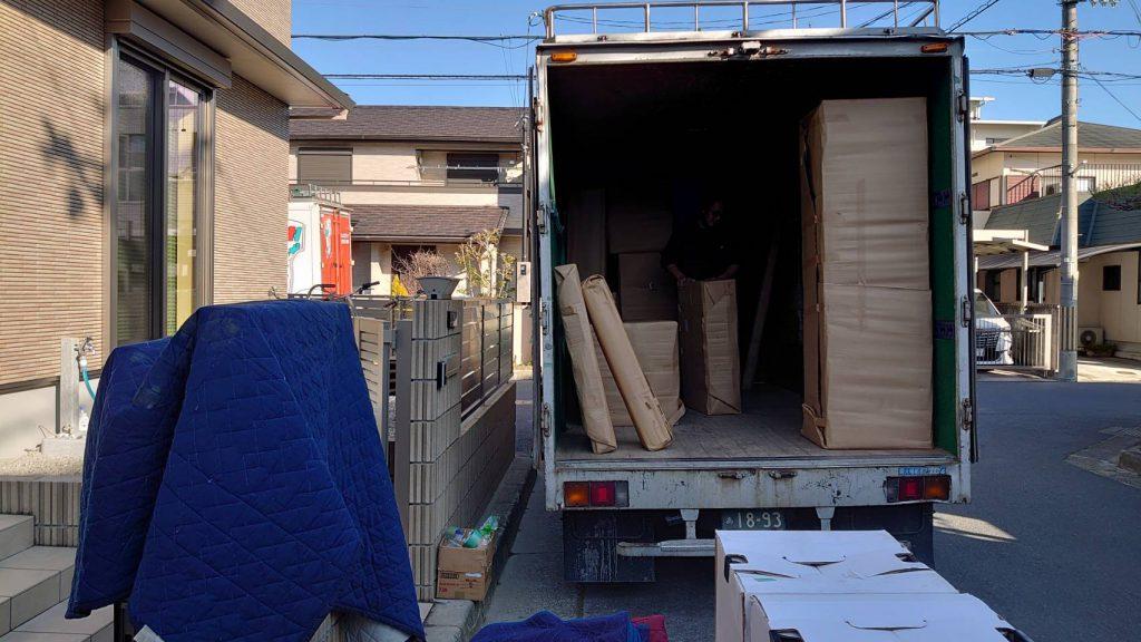 ご新居への搬入スタートです。