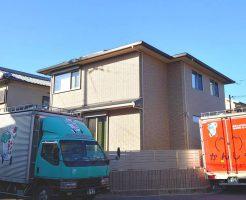 建て替え後のご新居にトラック到着です。