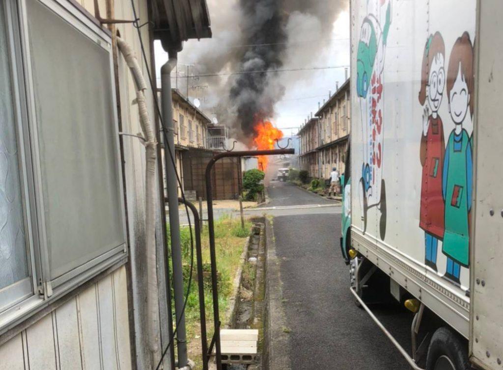引越作業中に火災現場に遭遇。人命救助に携わりました。 | 奈良県