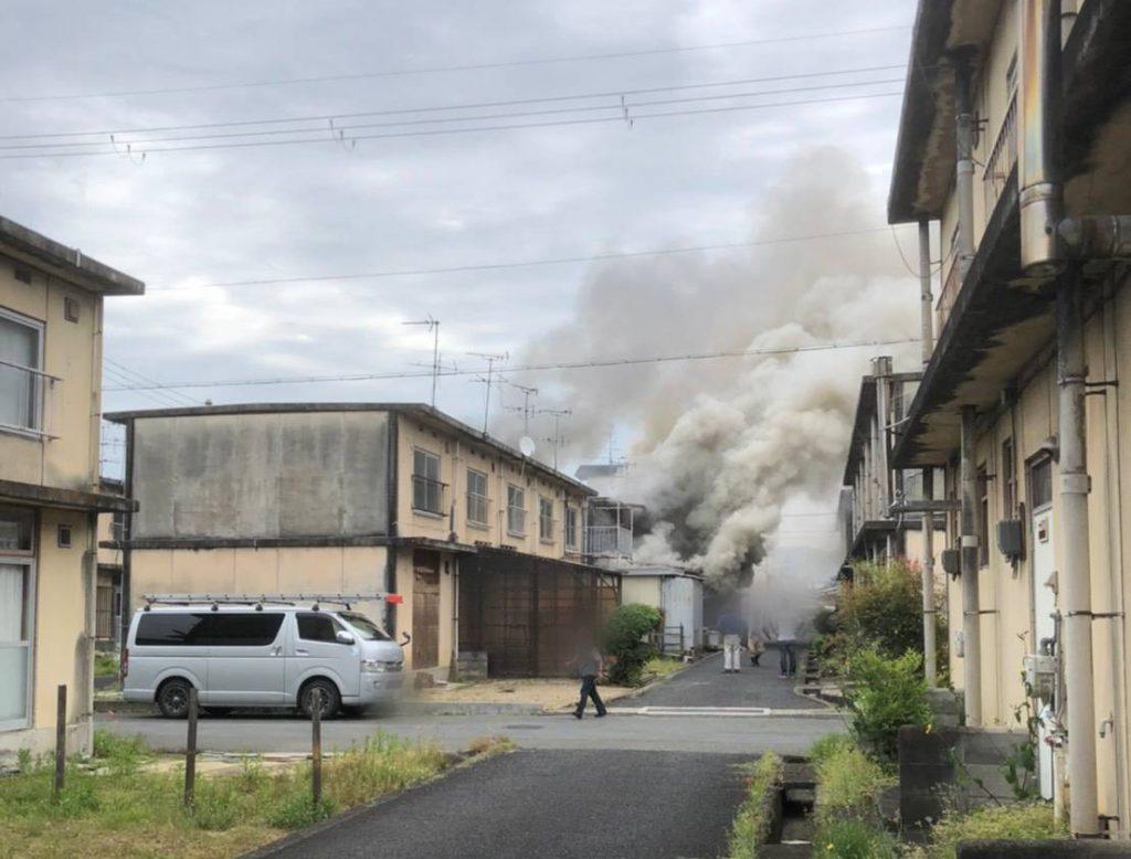2021年5月7日引越作業中、火災現場に遭遇