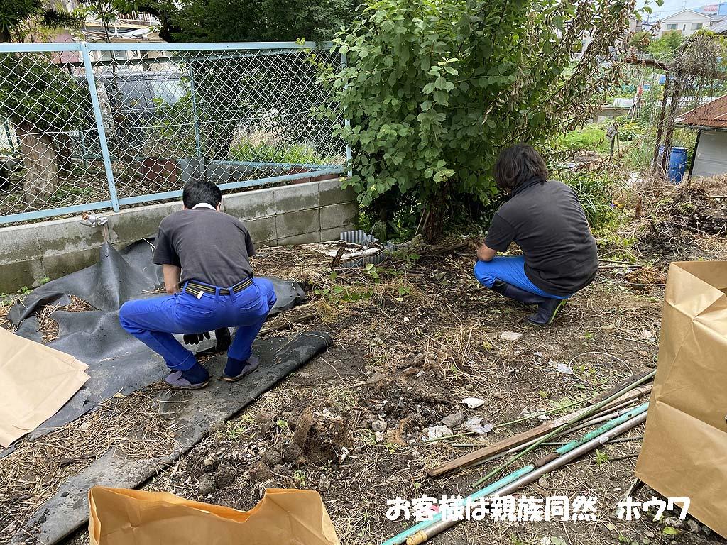 高齢者様 大和高田市でアパート裏庭を片付けてスッキリ問題解決
