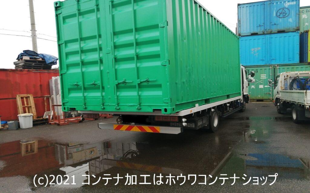 北九州へ600㎞の旅 シャッター付20フィートコンテナ