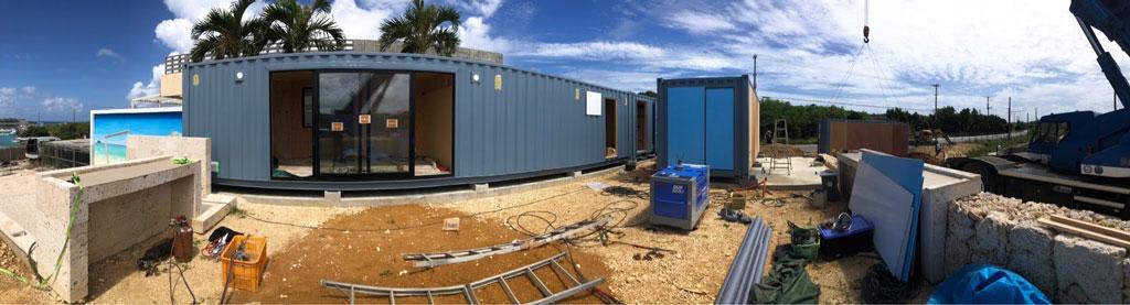 南の島でリゾート施設を建築中 | 沖縄某所でコンテナ型ホテル・住居